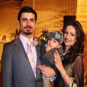 Fawad Khan with Family Photos