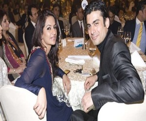 Fawad Khan with Wife Photo