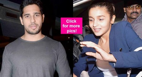 Alia Bhatt and Sidharth Malhotra New Pics