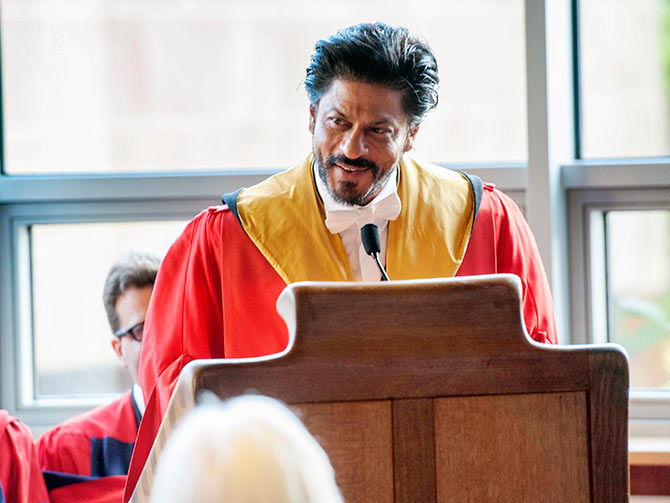 Shah Rukh Khan Giving Speech at University of Edinburgh