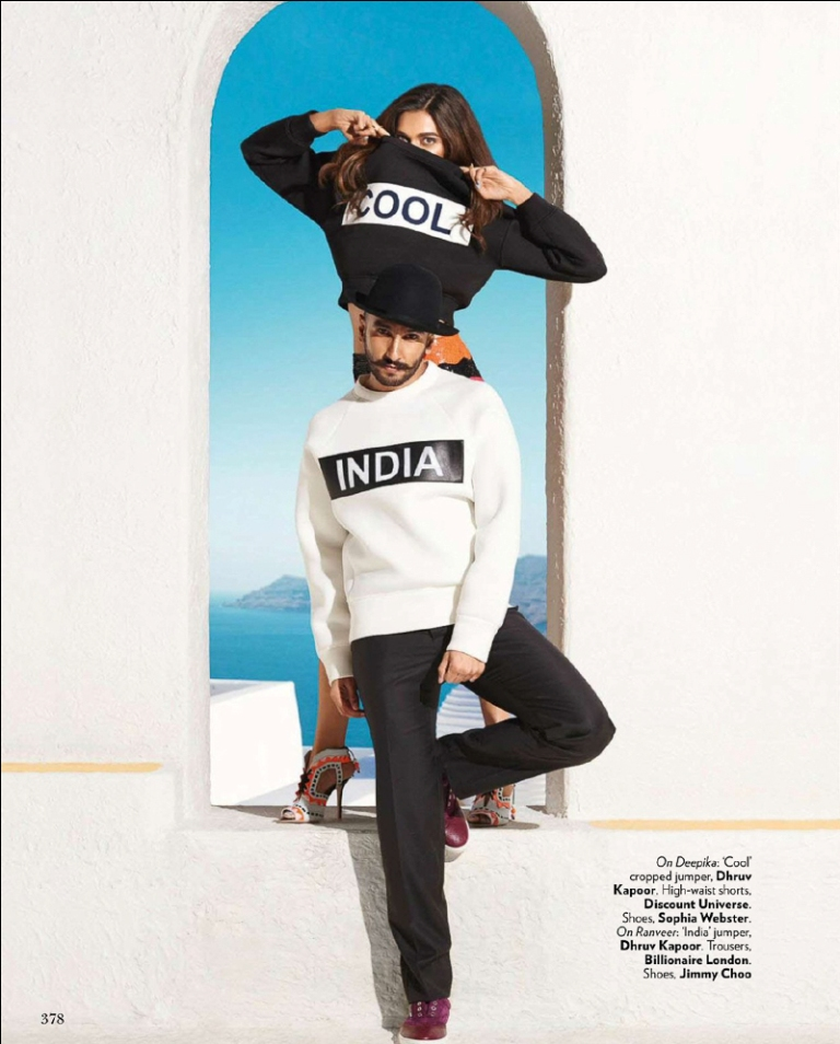Deepika, Ranveer on Vogue Magazine Oct 2015 04