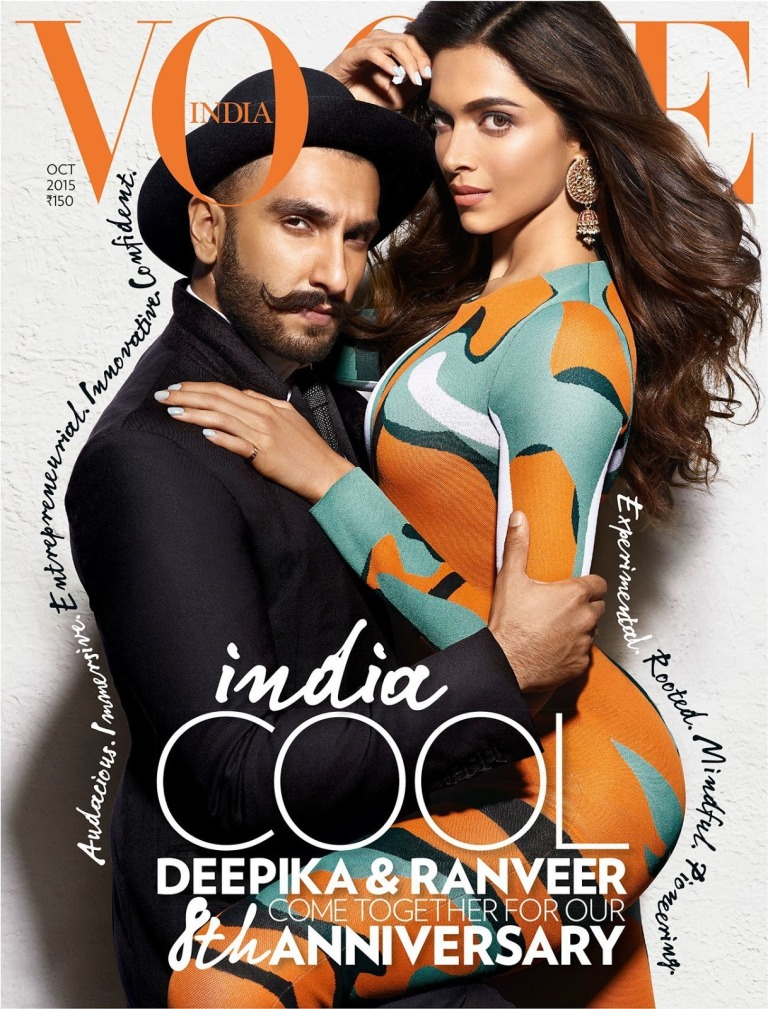 Deepika, Ranveer on Vogue Magazine Oct 2015 08