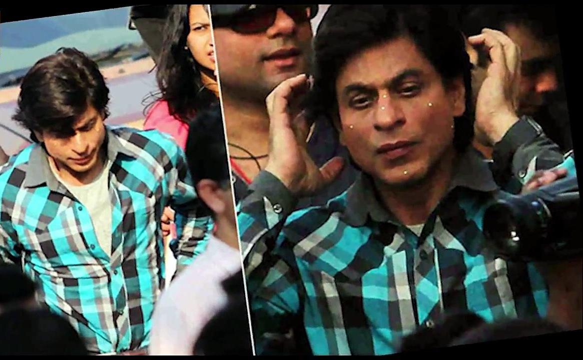 SRK on the set of Fan Movie