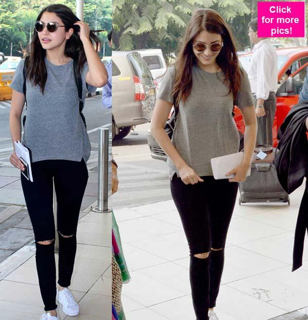 Anushka Sharma's Hot Airport Look 01