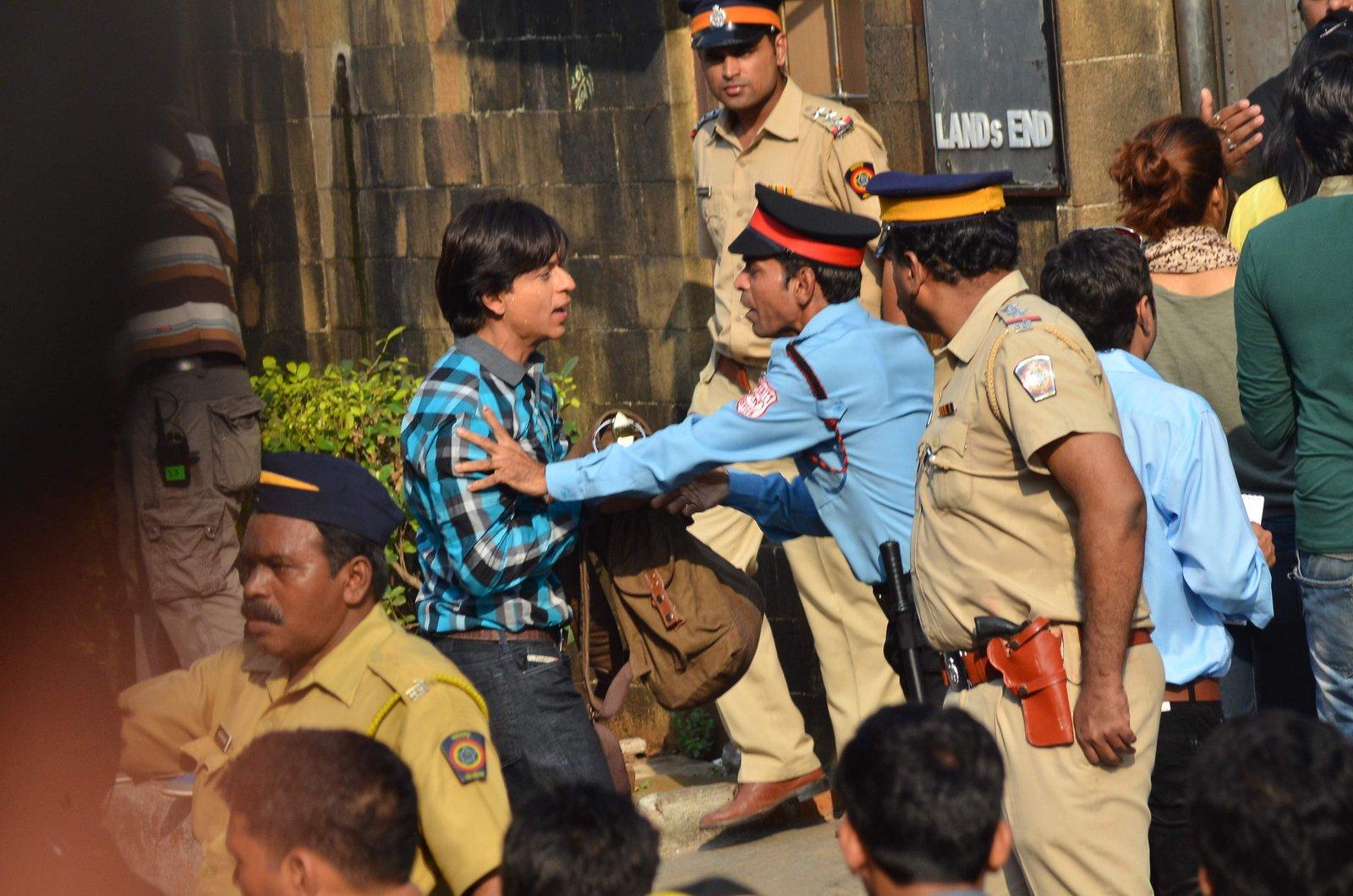 SRK on the set of Fan Movie