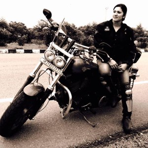 India's famous motorcyclist Veenu Paliwal