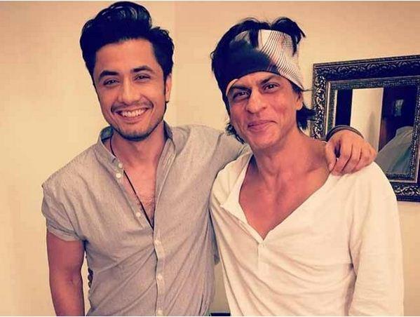 Ali Zafar with Shahrukh Khan