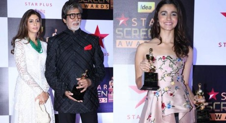 Amitabh Bachchan and Alia Bhatt Shine in Star Screen Award