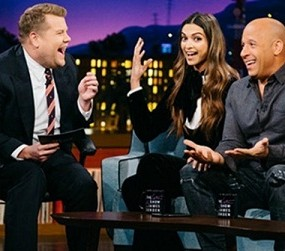 Deepika Padukone and James Corden Lungi Dance